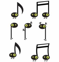 Music note characters vector
