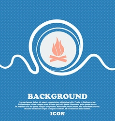 A fire sign icon blue and white abstract vector
