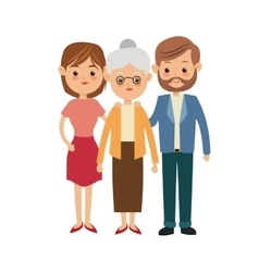 Grandmother and parents icon family design vector