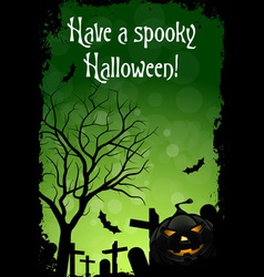 Abstract Green Halloween Card vector image vector image