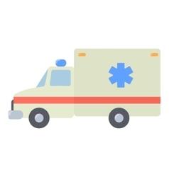 Ambulance icon flat style vector image