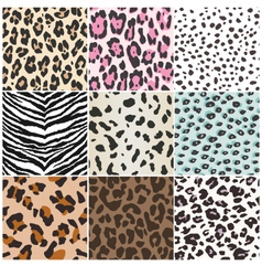 animal skin repeated pattern vector image vector image