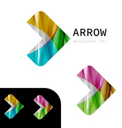 Arrow business sign design template vector image