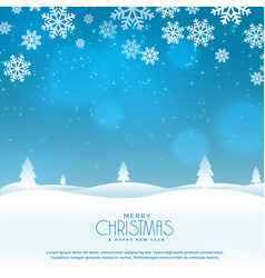 Beautiful winter landscape scene for christmas vector