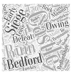 Bedford castle word cloud concept vector