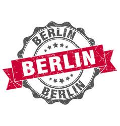 Berlin round ribbon seal vector