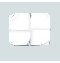 Blank folded paper vector