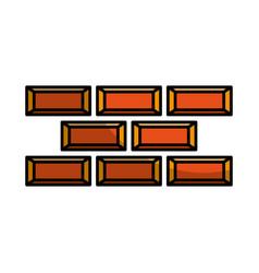 Bricks wall construction icon vector