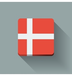 Button with flag of Denmark vector image vector image