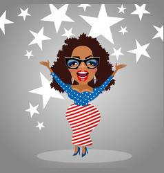 caricature of celebrity oprah winfrey vector image vector image