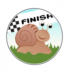 cartoon snail racer vector image