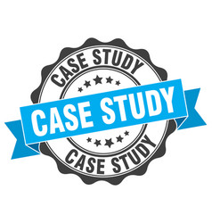 Case study stamp sign seal vector