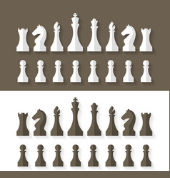 Chess pieces flat design style vector
