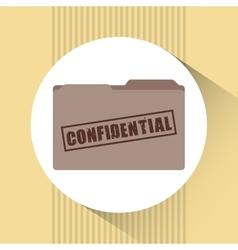 confidential folder design vector image