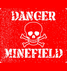 Danger minefield vector