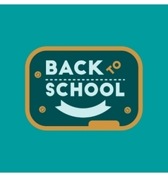 flat icon on background Back to school board vector image