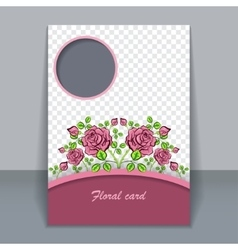 Floral card invitation for design vector