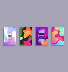 four creative design covers vector image vector image