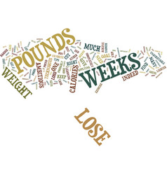 Lose pounds in weeks text background word cloud vector