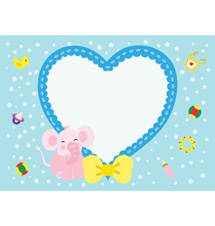Love elephant new born girl vector
