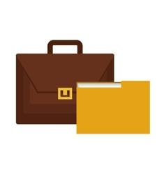 Portfolio and folder isolated icon vector