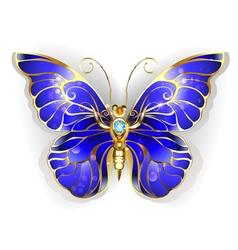 Sapphire butterfly vector
