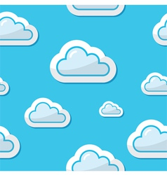 Seamless clouds on blue sky background pattern vector image vector image