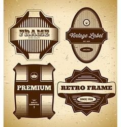 Set of big vintage labels vector image