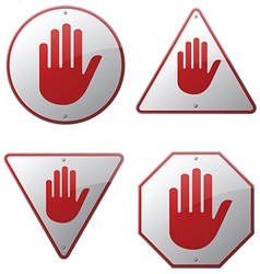 Stop Hand Signs vector image