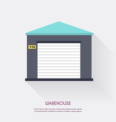 Warehouse warehouse icons logistic blank and vector