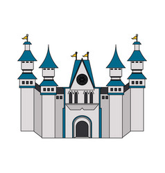 white castle icon image vector image vector image