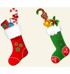 X'mas stockings vector image