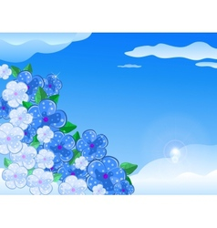Blue White Flower In the Sky vector image