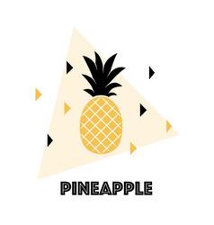 Pineapple fruit vector