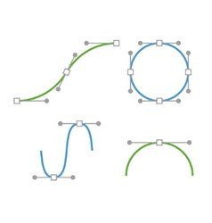 Bezier curve icons set designer work tools vector
