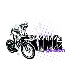 Cycling on grungy background vector