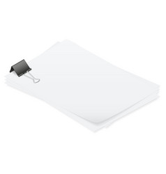 Stack of papers held together smoothly isometric vector