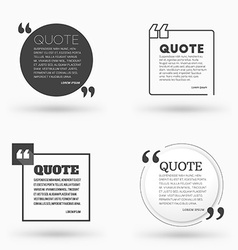 Set of quote blank design templates typographic vector