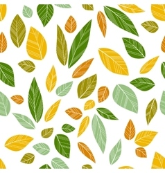 Colored seamless leaves vector