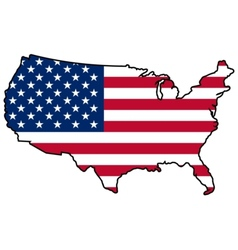 Map in colors of United States vector image