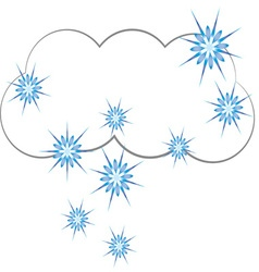 Snowy cloud vector