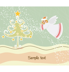 angel with tree vector image