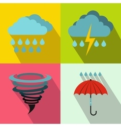Weather banners set flat style vector