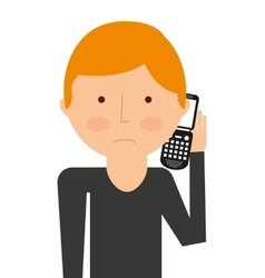 Person calling isolated icon design vector