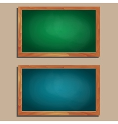 Set of empty wooden blackboards vector
