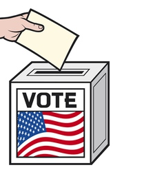 a ballot box with the flag vector image vector image