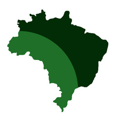 brazil map isolated icon vector image