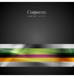 Bright stripes hi-tech background vector image