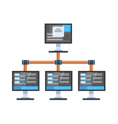 Data access icon cloud computer connection hosting vector
