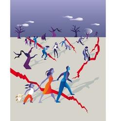 earthquake people vector image vector image